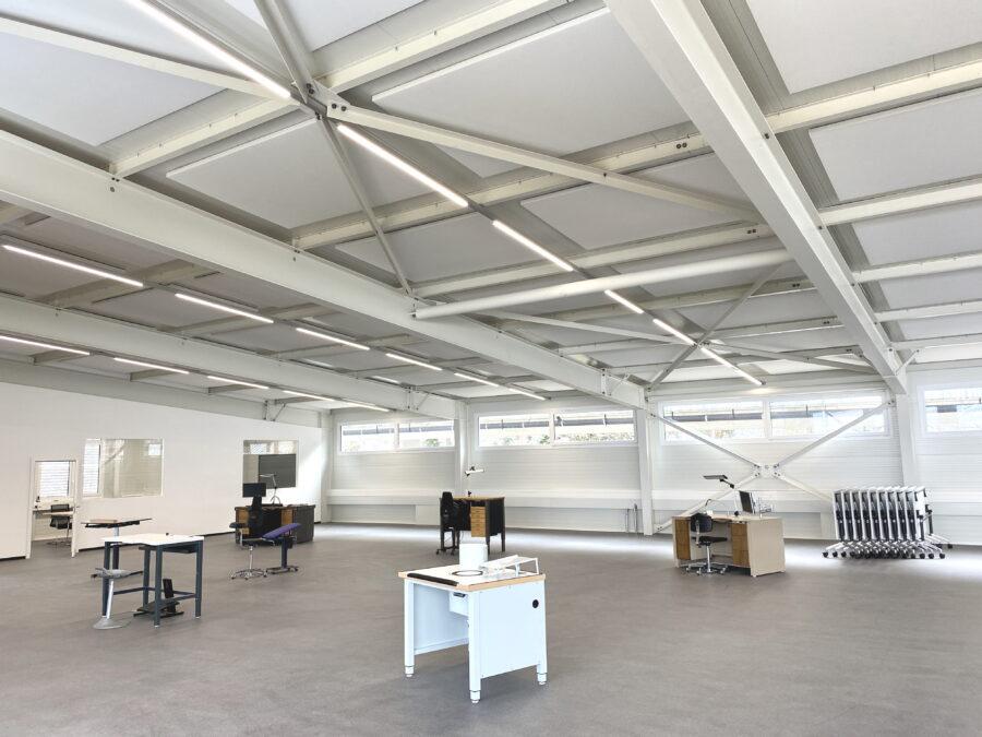 ergonomische Werkbank, Akustik, Höhenverstellung