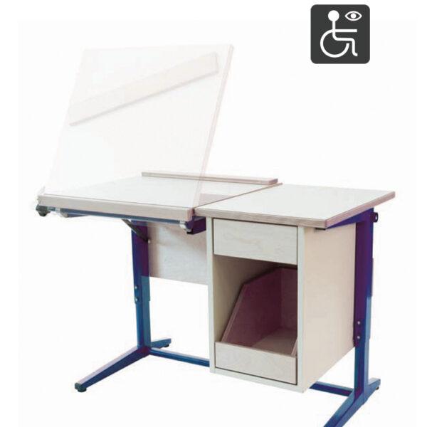 table de travail adaptée au malvoyants et handicapés